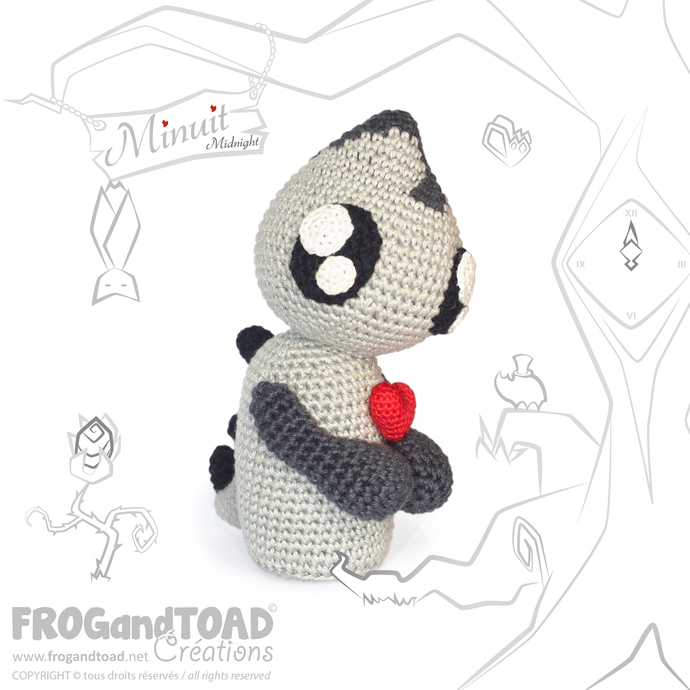 Amigurumi Crochet PDF Pattern - Minuit Midnight Demon Monster / Monstre