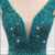 V-neck Neckline Mermaid Evening Dress With Beaded Lace Appliques