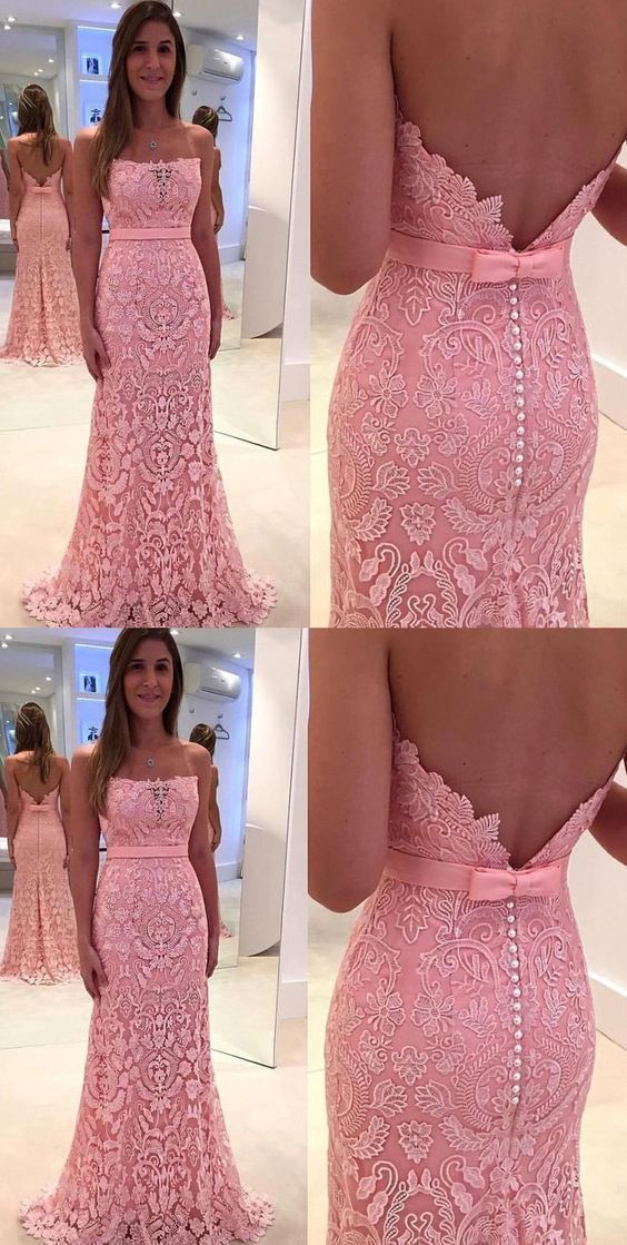 Pink Prom Evening Dress Luxurious Long Evening Dresses With Mermaid/Trumpet
