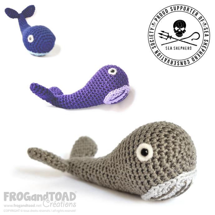 Amigurumi Crochet PDF Pattern - SEASHEPHERD - Whale / Baleine / Balena