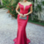 Off the Shoulder Mermaid Evening Dress, Sexy Long Prom Dress, Women Dress