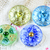 Czech Glass Button 27mm flower button for crafts or personalised jewelry and