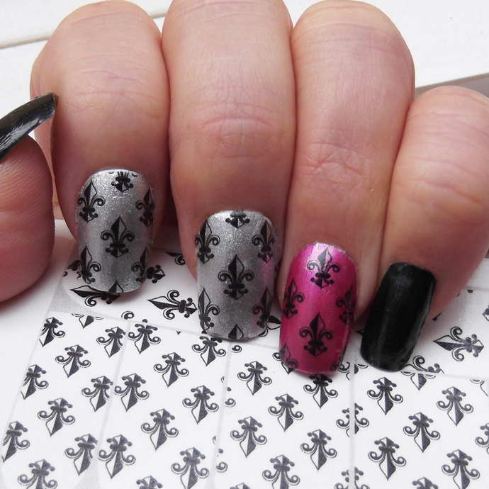 FLEUR de LIS Nail Art Decals (FLF) Full Nail Wrap Decoration French Lili -