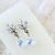 White AB Swarovski Flower Pendant with Cubic Zirconia Detailed Earring