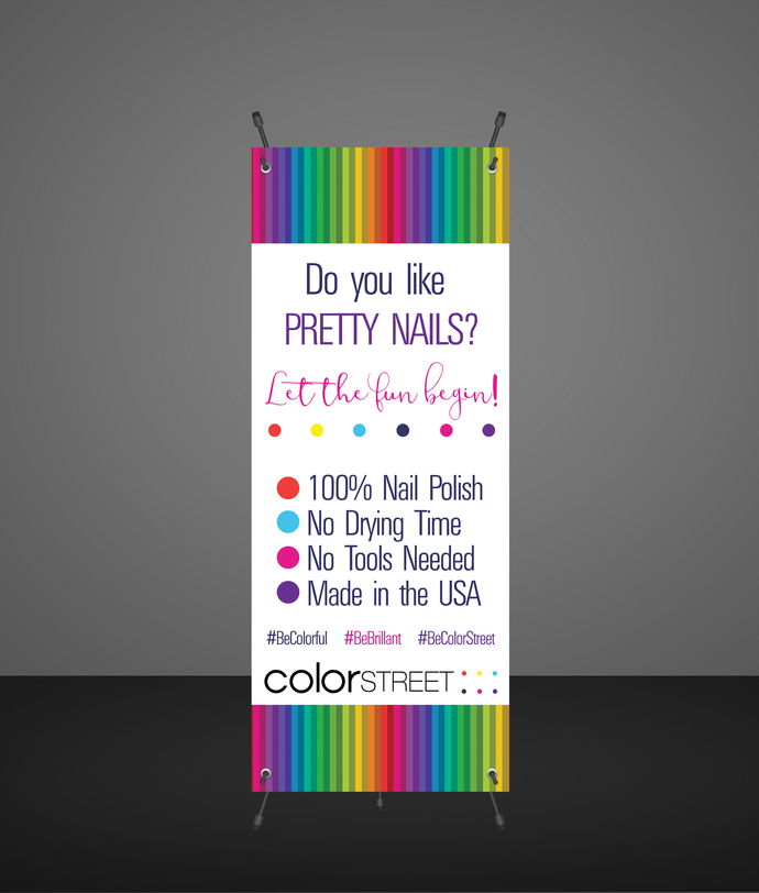 Color Street Nail Stylist Banner -Product display - Vendor Show- Colorful
