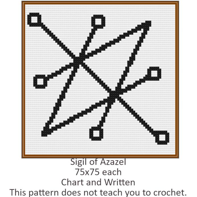 Sigil of Azazel Crochet Graph Pattern 75x75