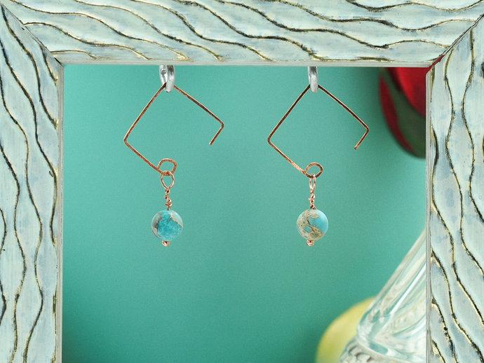 Impression Jasper & Copper Dangle Earrings (18-016)