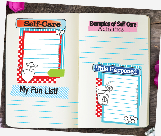 Ways to Practice Self-Care FOUR  Journaling Cards-Journaling Card Collage-