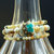 Flower Jade with Handmade Glass Bead Wrap Bracelet (18-028)