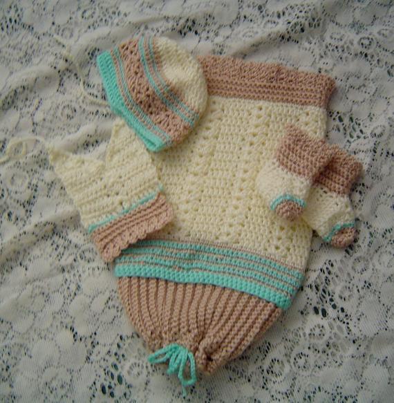 Cuddle Me Pattern,Micro Preemie,Unisex Cocoon Set,Premature Baby,Miniature