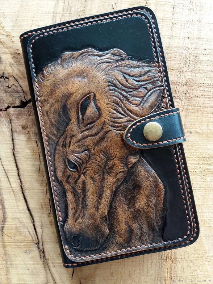 Unisex leather wallet, handmade