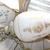 Antique Double Ceiling Lights, Vint Gold and White Double Lights, Antique