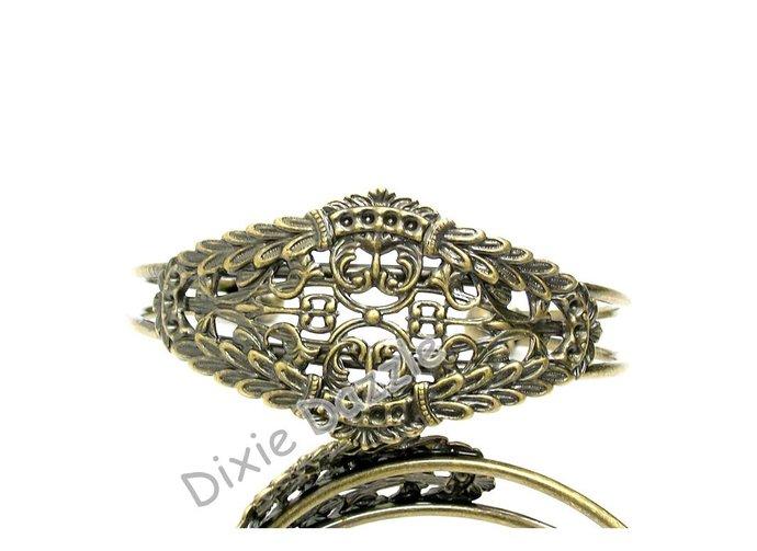 Filigree bracelet blank, 10 Art Deco filigree cuff bracelets, goth cuff
