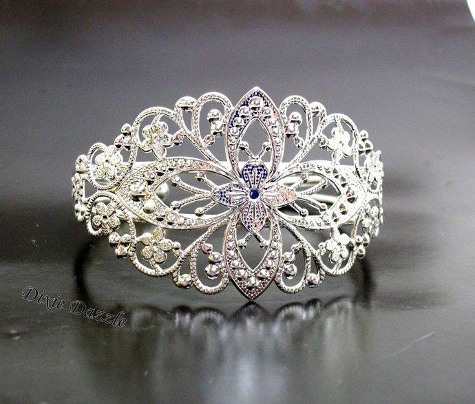 Cuff bracelet blanks, 20 shiny silver filigree cuff bracelets, filigree cuff,