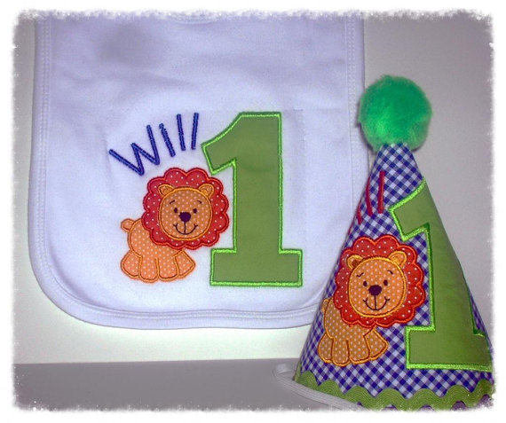 First Birthday Party Hat And Or Cake Smash Bib