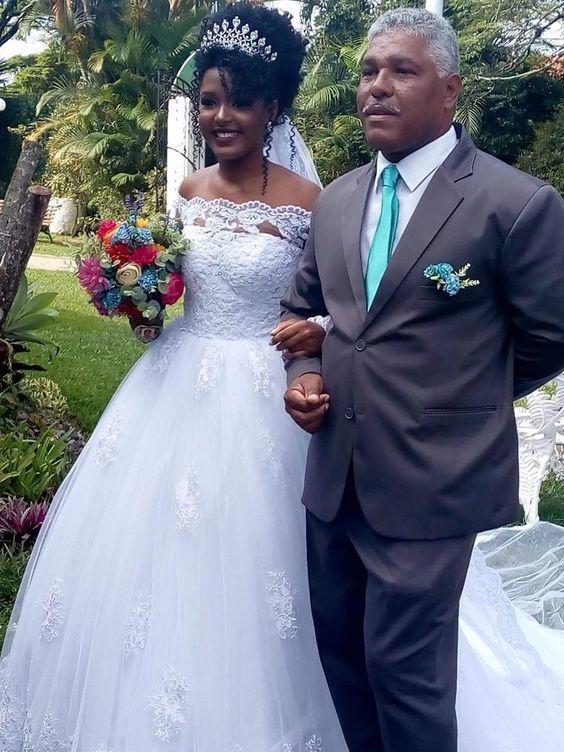 Vestido de novia Tulle Appliques White Wedding Dresses Formal Bridal Gown