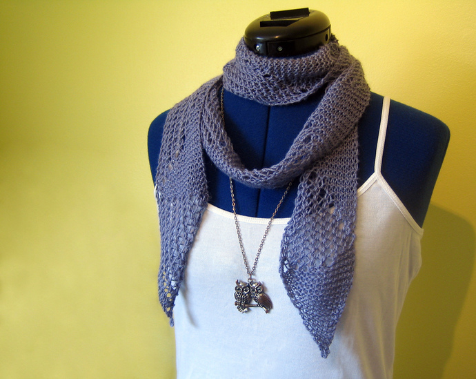 Tessellate - One Skein Summer Scarf Knitting Pattern