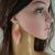 Boho beaded earrings for women, Beaded long earrings, Pale dogwood Bohemian