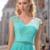Delicate Chiffon V-neck Neckline Prom Dress,Cap Sleeves Prom Dresses, A-line