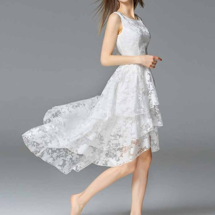 Charming Homecoming Dress,White Prom Dress,Layered Prom Dress,Fashion Homecoming