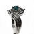 "Dolphin Engagement Ring, ""Independence Day"" Style Setting. 28pt. Blue Diamond"