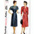 Simplicity 2080 Misses Dress 40s Vintage Sewing Pattern Tucked Shoulders and