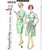 Simplicity 3853 Misses Dress W/2 Skirts 60s Vintage Sewing Pattern Half Size 16