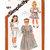 Simplicity 6062 Girls Long/Short Dress, Sundress 80s Vintage Sewing Pattern Size