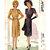 McCall 6601 Misses Dress, Drape 40s Vintage Sewing Pattern Size 18 Bust 36 Uncut