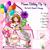 Princess Birthday 3D Pop Up Box Card and Envelope