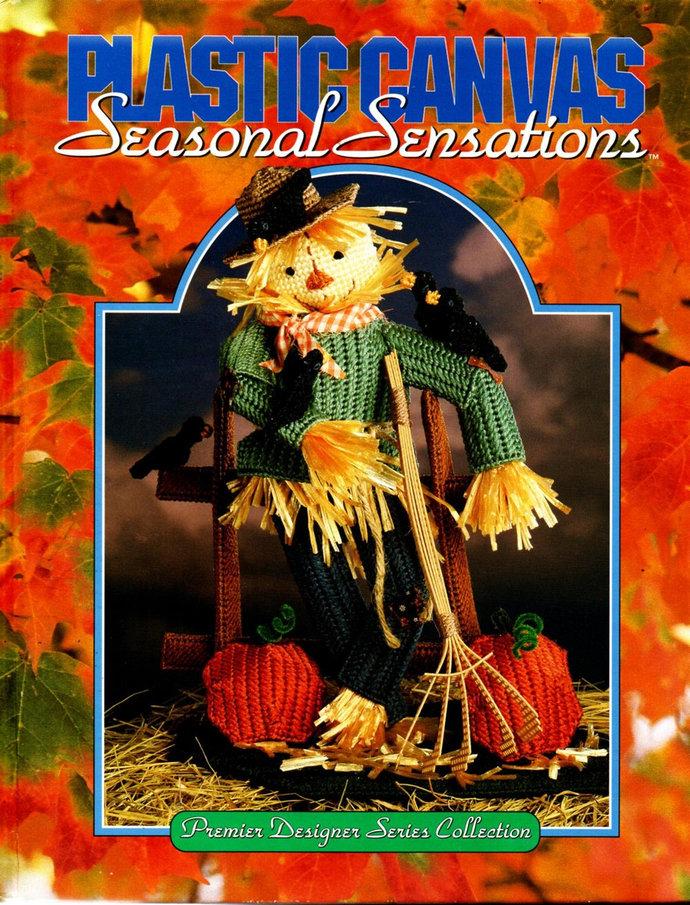 Plastic Canvas Seasonal Sensations Pattern Book 1993 Needlecraft Shop 46 Designs