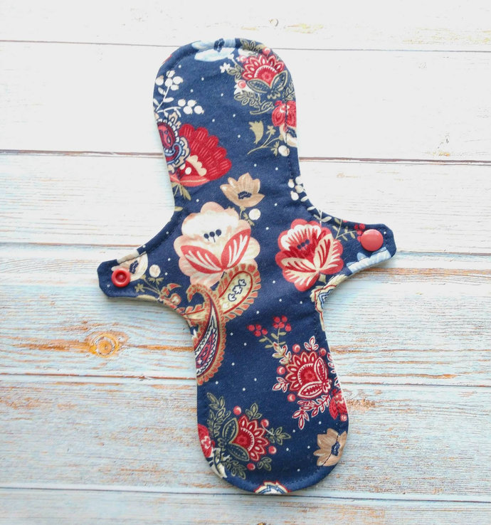 """Copy of 10"""" Moderate Reusable Cloth Pad (Paisley Floral)"""