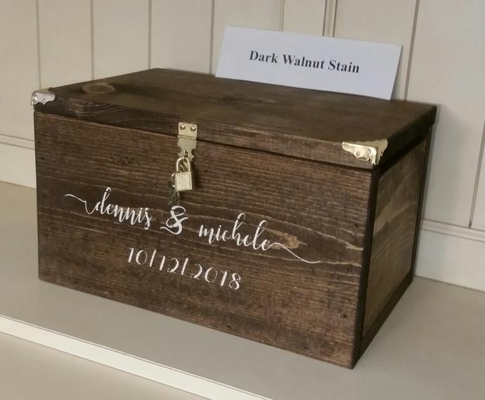 Personalized Wedding Card Box (X-Large) Fashion Font