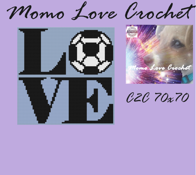 Soccer LOVE C2C 70x70