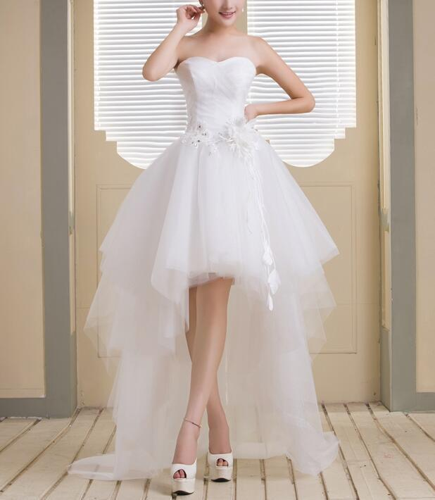65ff9e9dc89 Cute White Tulle Sweetheart High Low Party by prom dresses on Zibbet