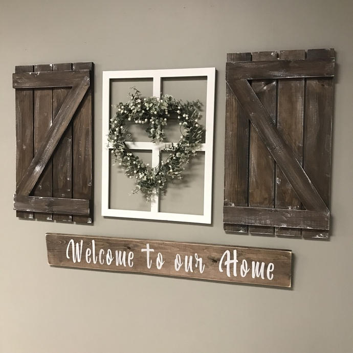 DIY- Farmhouse Wall