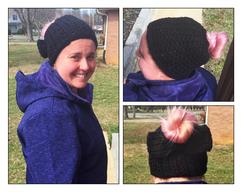 ed6e87f83882d Crochet Hat - Black with Red Purple by StellaBlueHandmade on Zibbet