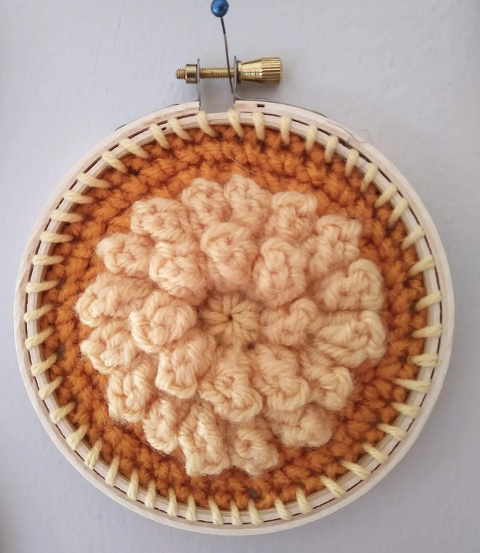 """Crocheted Granny Square Circle 4 """""""