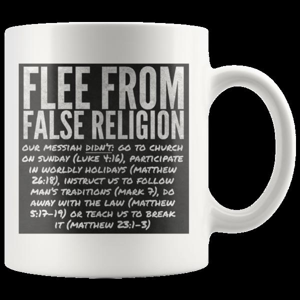 FLEE from false religions,We were chose to be set apart,Coffee mug,tea cup,