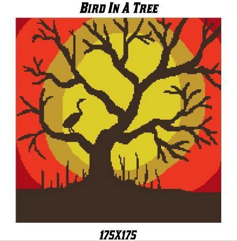 Bird In A Tree Crochet Graph Pattern 175x175