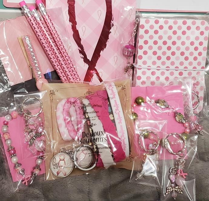 Pink Ribbon travelers notebook lot