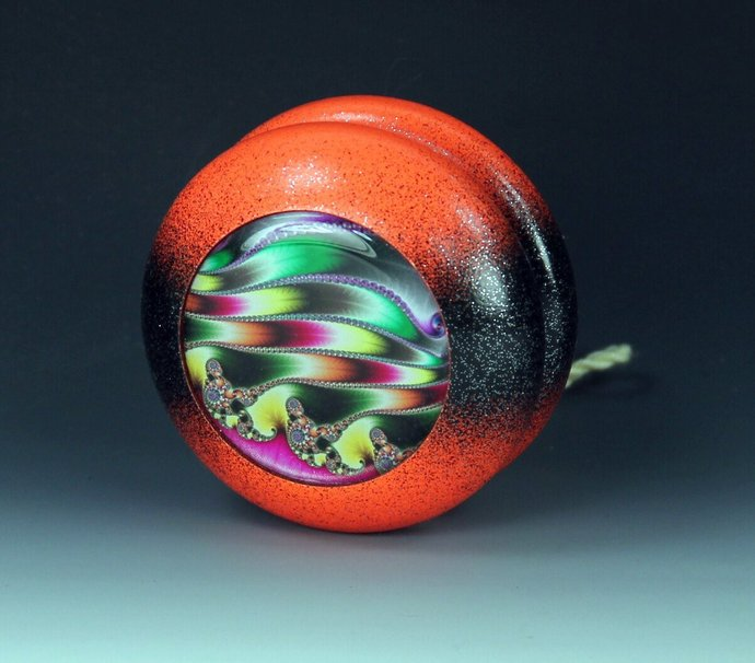 "Vintage Tom Kuhn/BC ""School Colors"" Yo-Yo re-painted and fitted with Fractals !"