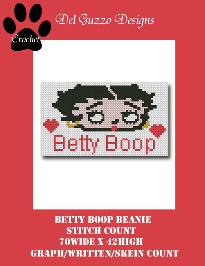 Betty Boop Beanie Hat 70x42 SC