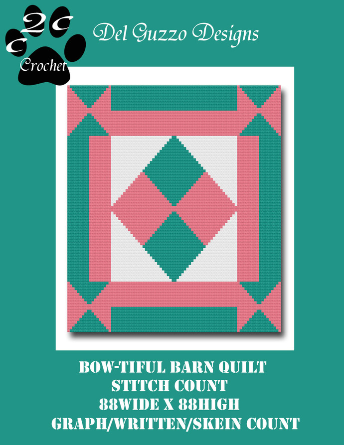 Bow-tiful Barn Quilt 88x88 C2C