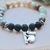 Boho Amazonite and oil diffusing beaded bracelet with adorable koala charm