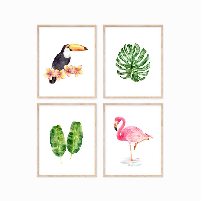 Tropical Set of 4 Prints