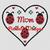 Mom Ladybug Clover Heart Pattern - SC - HDC - 180x220 - Graph w/Written - Full