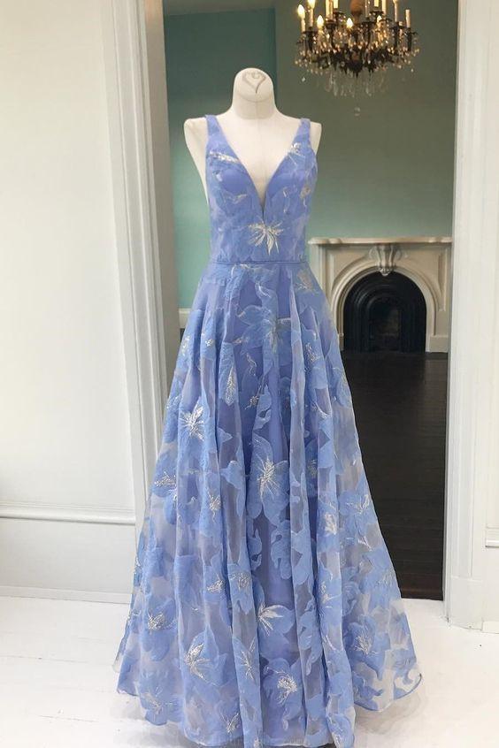 Hot Sale Luscious Prom Dresses Blue, Prom Dresses Long, Prom Dresses 2019