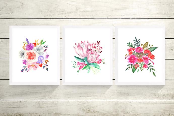 Set of 3 Floral Prints