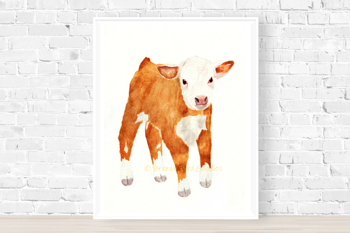 Hereford Cow Print